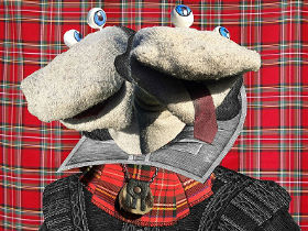 Publicity image for Scottish Falsetto Sock Puppet Theatre Do Shakespeare