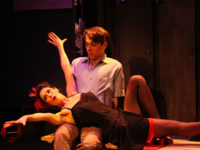 Poppy Tierney and Alex Lodge as Lola and Joe