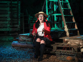 Emma Ralston as Little Red Riding Hood