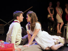 Joshua Brant and Ella Vize as the College Boy and the Nurse