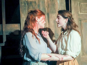 Kira Morsley and Rebecca Gilliland as Rebecca and Angharad