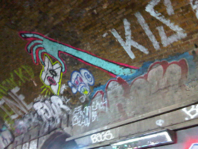 Outside the the Old Vic Tunnels