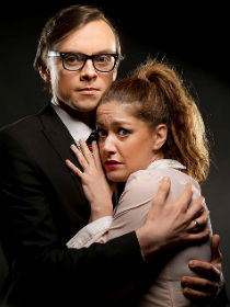 Ben Kerr and Julie Atherton as Brad and Janet